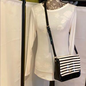 Kate Spade Striped Patent PVC Leather Crossbody